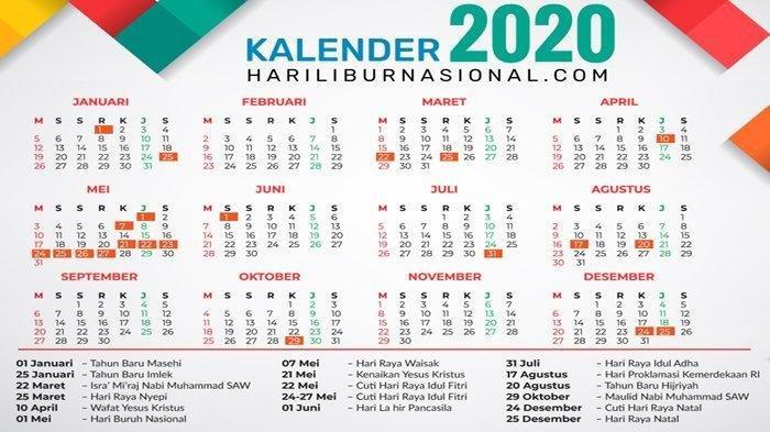 Catat, Ini Dia Daftar Libur Nasional dan Cuti Bersama 2021!