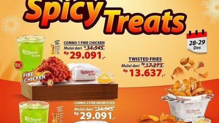 Dua Hari Saja! Buruan Promo Spesial Spicy Treats Richeese Factory, Jangan Sampai Terlewatkan