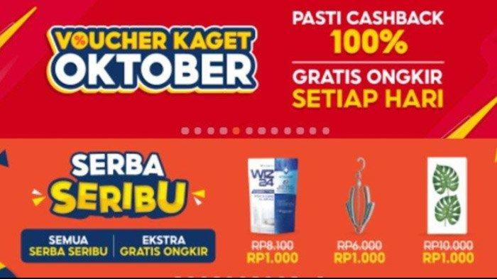 Dapatkan Voucher Kaget Oktober 2021 Hingga Promo Shopee Serba Seribu