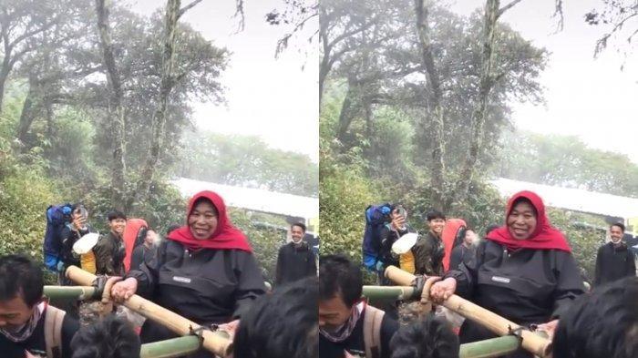 Momen Langka Mbok Yem Pedagang Pecel Gunung Lawu Turun Dari Puncak, Mengapa?