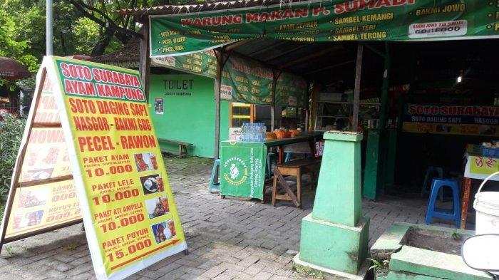 Warung pecel Lele di area selter Manahan Solo