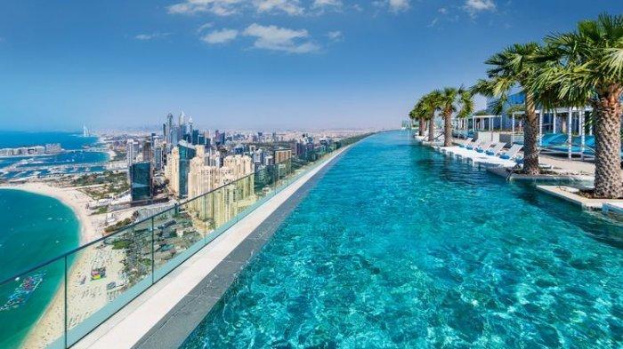 Infinity Pool Tertinggi Dunia di Dubai, Pemandangannya Menakjubkan