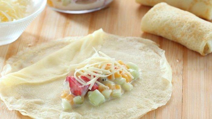 Resep Crepe Salad Buah, Disajikan Untuk Menu Diet Malam Ini