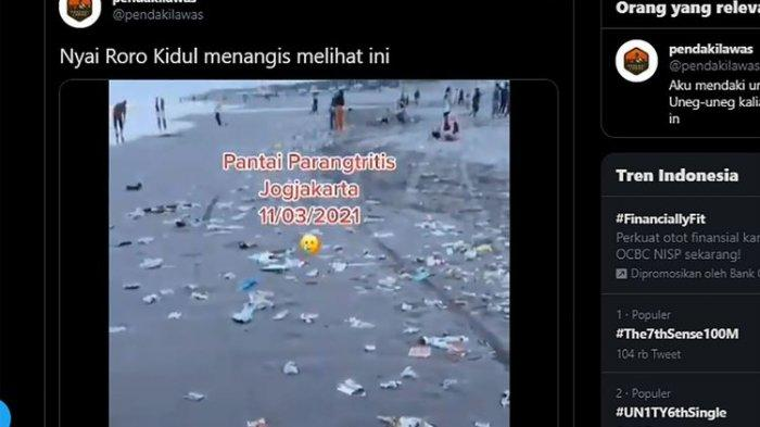 Usai Libur Panjang, Sebuah Video Tunjukkan Tumpukan Sampah di Pantai Parangtritis