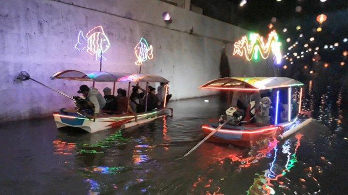 Meriahkan Imlek, 3 Perahu Wisata Kali Pepe Mulai Beroperasi di Solo