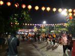 Solo Car Free Night Malam Tahun Baru 2020, Wisatawan Penuhi Halaman Balai Kota Surakarta