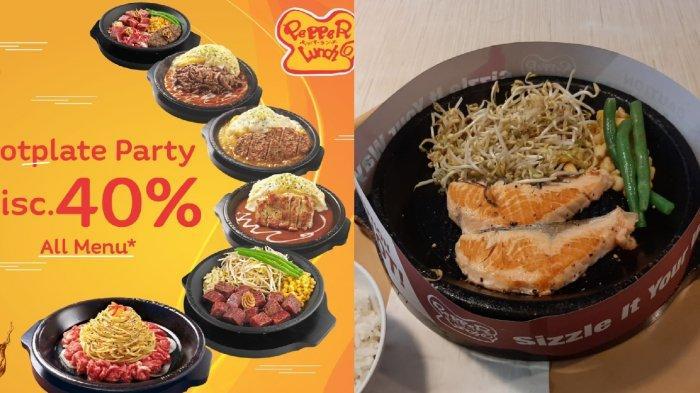 Pepper Lunch Promo #diRumahAja, Menu Hotplate Diskon Hingga 40%, Gratis Antar