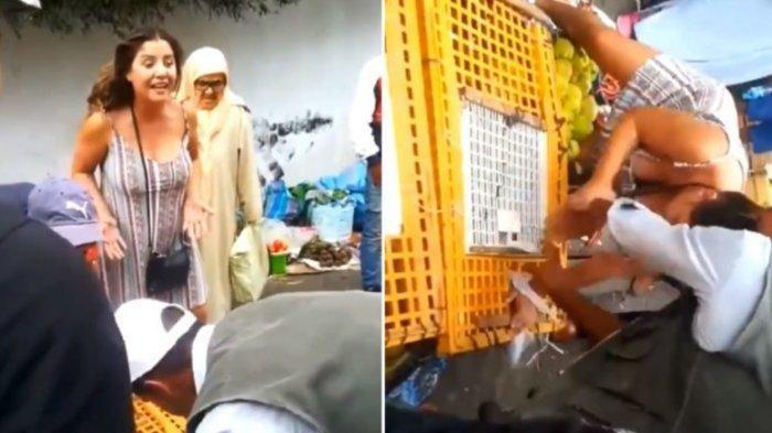 Turis Bule Ini Marah-marah Lihat Ayam Dijual Dalam Kandang