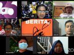 Aksi AJI Indonesia Gelar Aksi Jurnalis Menolak Omnibus Law UU Cipta Kerja
