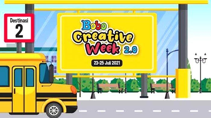 Ada Bobo Creative Week 2.0 pada 23-25 Juli 2021 untuk Isi Akhir Pekan Anak, Orangtua, dan Guru