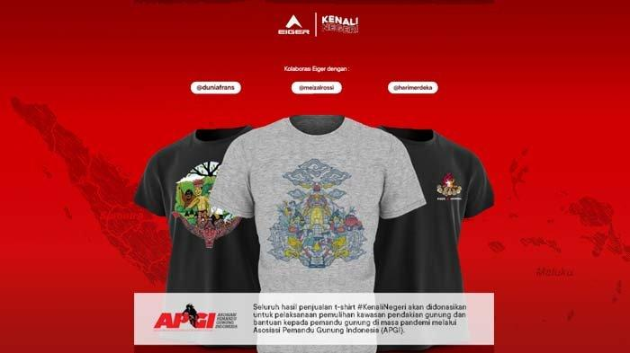 dengan T-shirt #KenaliNegeri ini, Eiger Adventure mengajak masyarakat mengenali lebih dalam bangsa dan negara Indonesia.