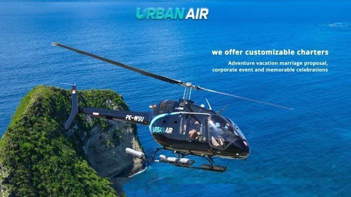 Tidak Usah Jauh-jauh ke Hawaii, di Bali ada kok Wisata Helikopter dengan Operator Urban Air