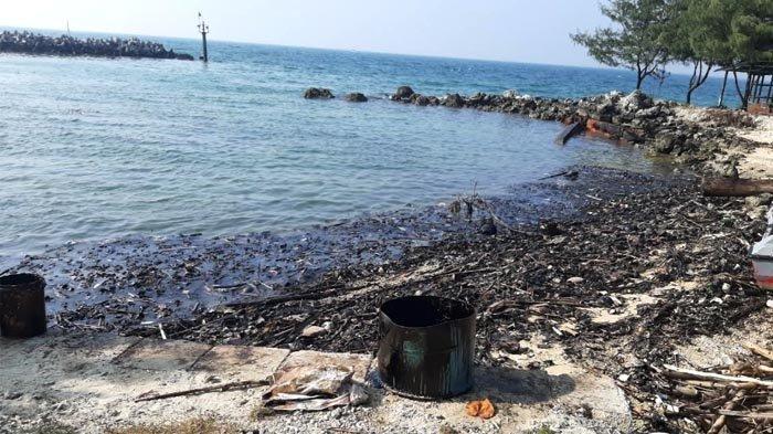 Duh, Tumpahan Minyak Mencemari Taman Nemo di Pulau Untung Jawa