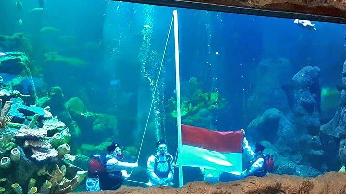 Upacara Bendera di Sea World Ancol Tak Kalah Khidmat dari Tempat Lain